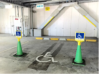 Parking lot for exclusive use of person with a physical disability use