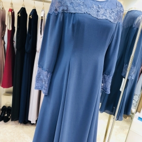 Dress with elegant sleeve