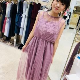 대인기!튈 롱 드레스♡