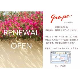 News [Motomachi, Yokohama grape] of move business